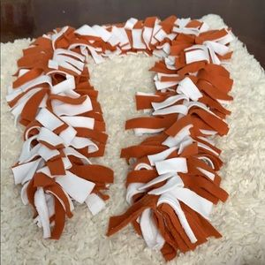 Orange and white thick and warm scarf